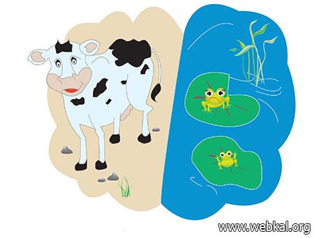 อึ่งอ่างและวัว , นิทานอีสป , อีสป , นิทานสอนใจ , นิทานอีสปสอนใจ , นิทาน , aesop fables ,  aesop , พุทธภาษิต , นิทานเรื่องนี้สอนให้รู้ว่า
