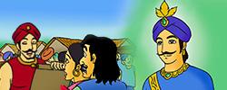 รูปนิทานชาดกมหาอุปราชผู้ทรงปัญญา ทุมเมธชาดก ว่าด้วยการใช้อำนาจให้เป็นประโยชน์