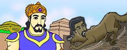 รูปนิทานชาดกพระเจ้ามหาสีลวราช มหาสีลวชาดก ว่าด้วยการปรารภความเพียร