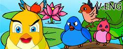 รูปนิทานชาดกสกุณชาดก นกหัวดื้อ ชาดกว่าด้วยการเป็นคนดื้อ ว่ายากสอนยาก