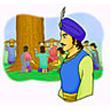 รูปนิทานชาดก มหาอุปราชผู้ทรงปัญญา ทุมเมธชาดก ว่าด้วยการใช้อำนาจให้เป็นประโยชน์