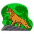 รูปนิทานชาดก พญาสุนัขเจ้าปัญญา กุกกรชาดก ว่าด้วยการสงเคราะห์ญาติ