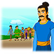รูปนิทานชาดก มหาอำมาตย์ผู้ทรงปัญญา  มหาสารชาดก  ว่าด้วยต้องการคนที่เหมาะกับเหตุการณ์