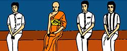 วัฒนธรรมชาวพุทธ-การปฏิบัติตนต่อพระภิกษุสงฆ์