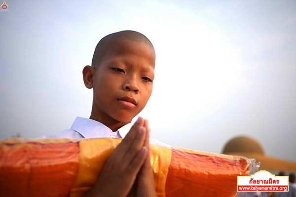 พิธีบรรพชาสามเณรธรรมทายาท วันเสาร์ที่ 14 มีนาคม พ.ศ.2558